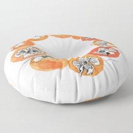 Persimmon Wreath Floor Pillow