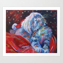 Has Santa been? Has he? Art Print