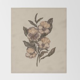 Pansy Throw Blanket