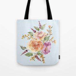 vintage ros bouquet Tote Bag
