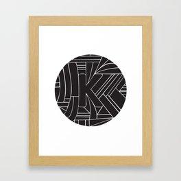 Circle K Framed Art Print