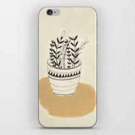 Flower Pot iPhone Skin