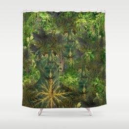 Green Man Shower Curtain