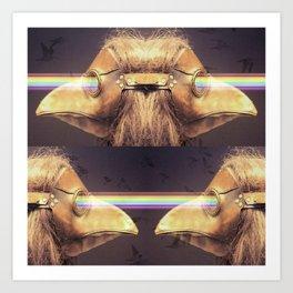 Bubonic Plague Mask Rays Art Print