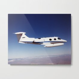 NASA Dryden Flight Research Centers Lear 24 tail number 805 in flight Metal Print