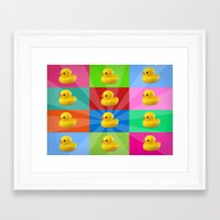duck Framed Art Prints featuring duck by mark ashkenazi