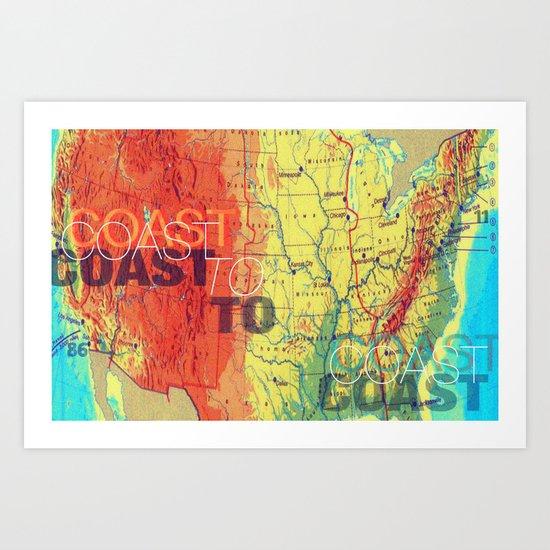 Coast To Coast Art Print