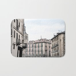 Major Square of Segovia Drawing in Spain Bath Mat