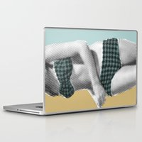 record Laptop & iPad Skins featuring xerographic  record by Vin Zzep