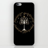gondor iPhone & iPod Skins featuring tree of gondor by skymerol