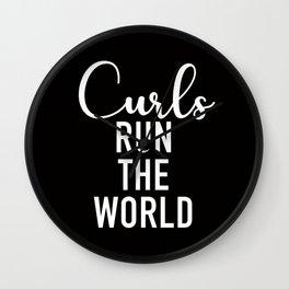 Curls Run The World Wall Clock