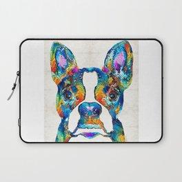 Colorful Boston Terrier Dog Pop Art - Sharon Cummings Laptop Sleeve