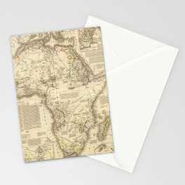 Vintage Map of Africa (1828) Stationery Cards