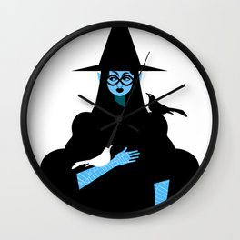 Witch and Crow Wall Clock