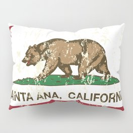 Santa Ana California Republic Flag Distressed  Pillow Sham