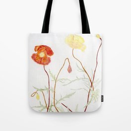 More fowers in my garden. Poppy. Tote Bag