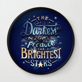 Brightest Stars Wall Clock