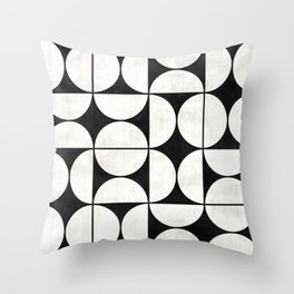 Mid-Century Modern Pattern No.2 - Concrete Throw Pillow