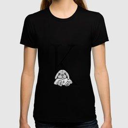 K letter T-shirt