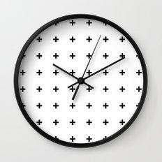 Black Plus on White /// www.pencilmeinstationery.com Wall Clock