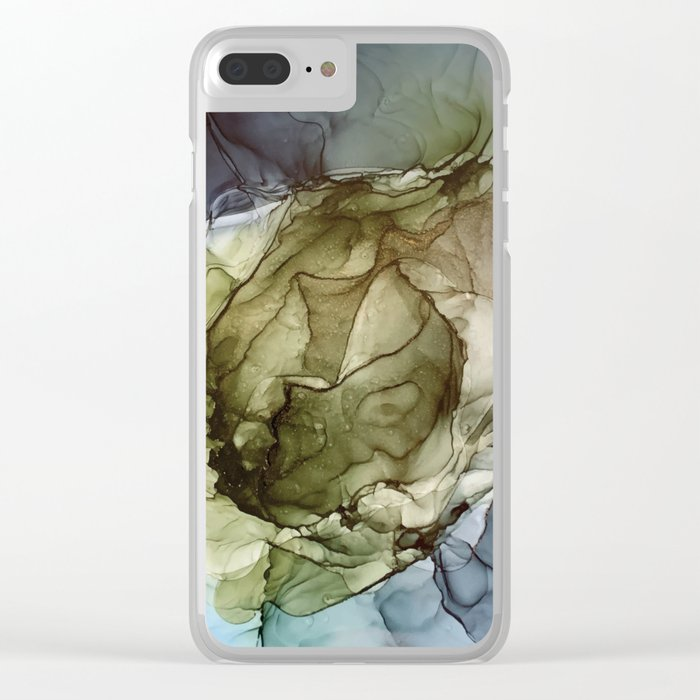 Calm Nature- Earth Inspired Abstract Painting Clear iPhone Case