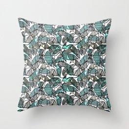 BIRDS IN THE PARK Throw Pillow