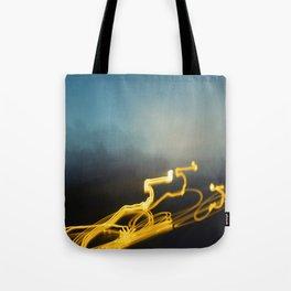 Lightbeam Haze Tote Bag