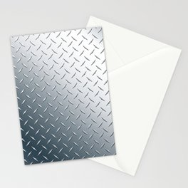 Diamond Plate Metal Pattern Stationery Cards