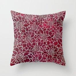 Dahlia Flower Pattern 10 Throw Pillow