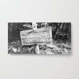 Black and White sign Metal Print