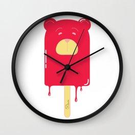 Oso Paleta Helada (rojo) (Popsicle Bear (red) Wall Clock
