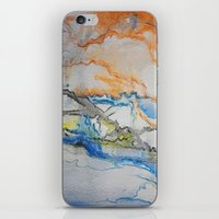 reassurance iPhone & iPod Skins featuring Abstract colors 1 by Magdalena Hristova