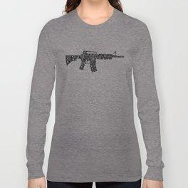 Pew Pew AR-15 Long Sleeve T-shirt
