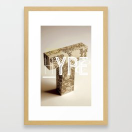 Typographic Hype Framed Art Print