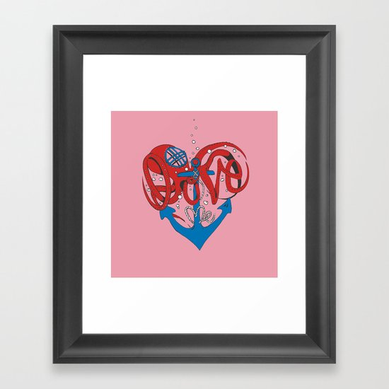 Deeply in Love Framed Art Print