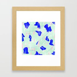 Abstract design pink and blue Framed Art Print