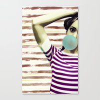 bubble Canvas Prints featuring Bubble by Mi Nu Ra