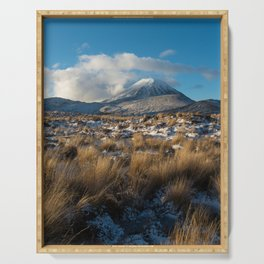 Mt Ngauruhoe Snow Dusting Serving Tray