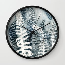 Winter Ferns  Wall Clock