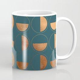 Copper Circles Art Deco on Emerald Coffee Mug