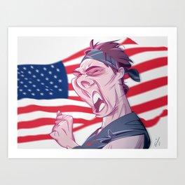 RAFA after winning the US Open Art Print