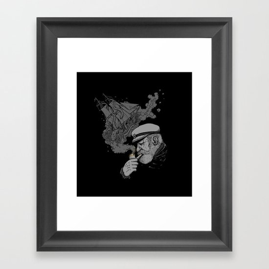 A Captains's Memory Framed Art Print