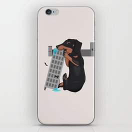 Attack of the Enormous Dachshund!!! iPhone Skin