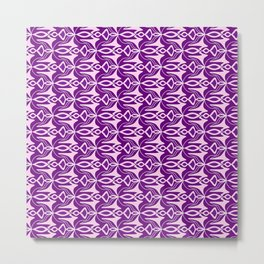 Winged Lavender Purple Wicked Winged Abstract Shapes Spirit Organic Metal Print