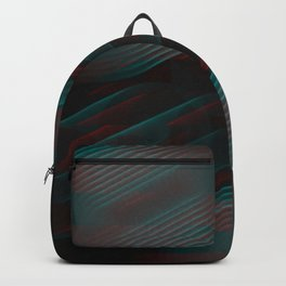 Echoes VII - Abstract Glitched Circles Backpack