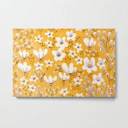 Yellow Meadow of Flowers Metal Print