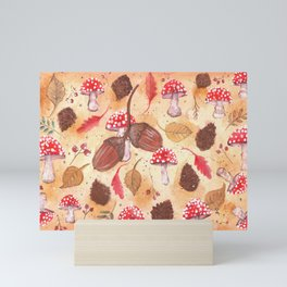 the forest in autumn Mini Art Print