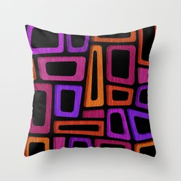 Palm Springs Nights - Modern Tiki Throw Pillow