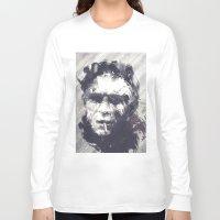 steve mcqueen Long Sleeve T-shirts featuring Steve McQueen - The Legend by HelloFedUp