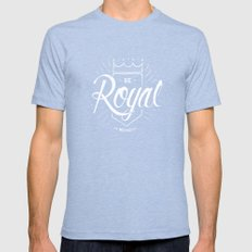 Be Royal Mens Fitted Tee Tri-Blue X-LARGE